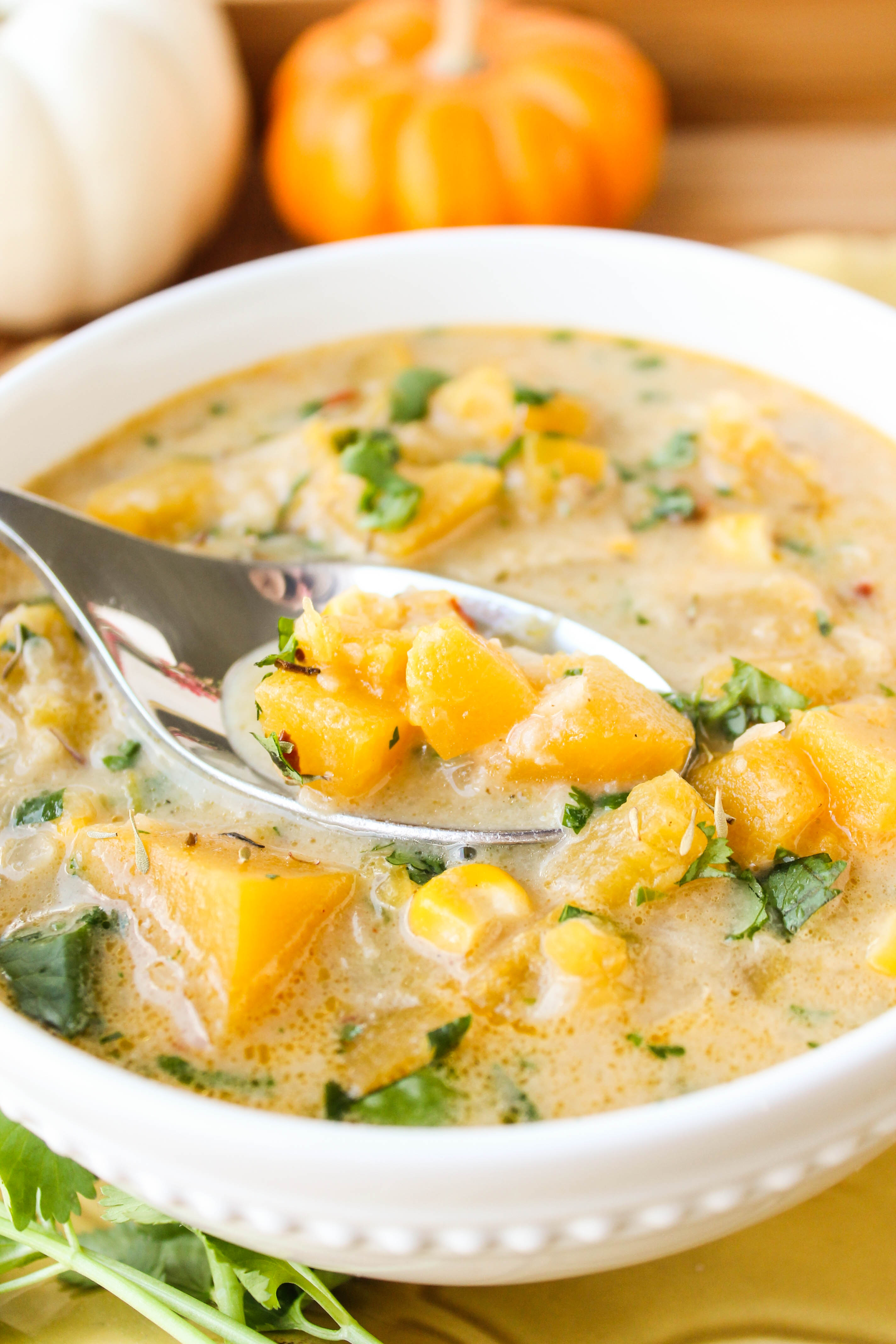 Pumpkin and Chipotle Corn Chowder (and How to Chop a Pumpkin) - The ...