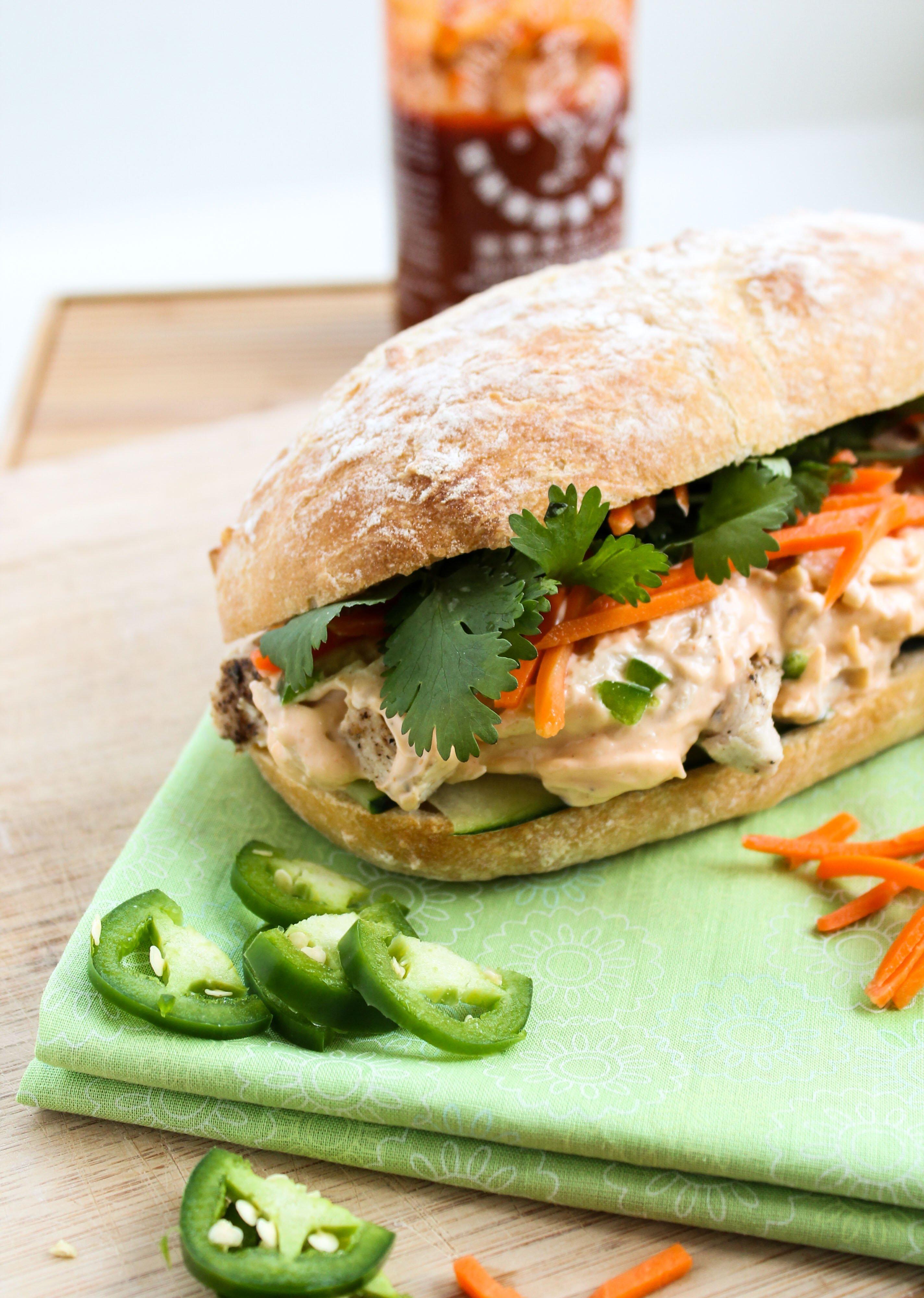 Leftover turkey asian sandwich turkey banh mi the food for How to make leftover turkey sandwich