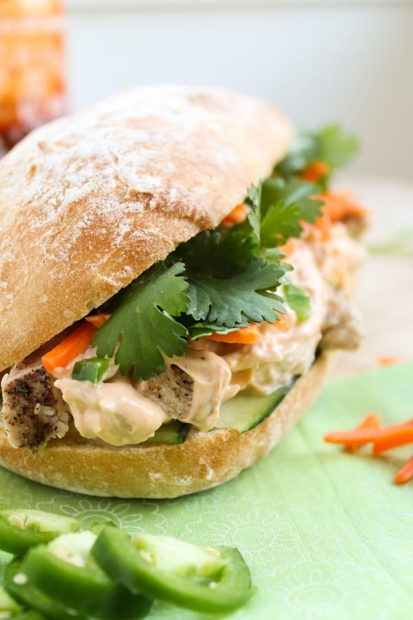 Leftover Turkey Asian Sandwich (Turkey Banh Mi) from The Food Charlatan