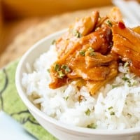 Teriyaki Chicken Rice Bowls (Slow Cooker)