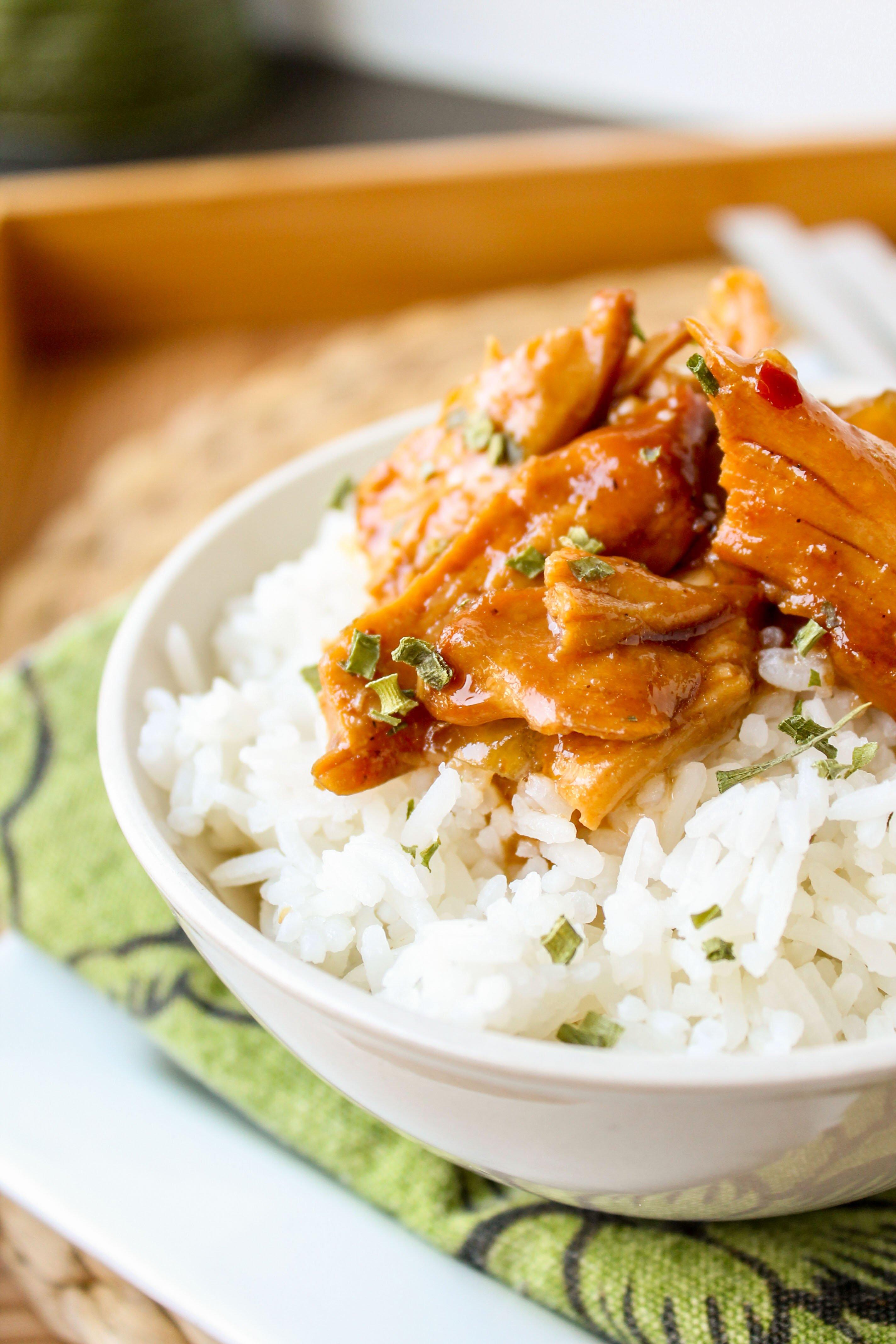 teriyaki chicken rice bowls slow cooker the food charlatan