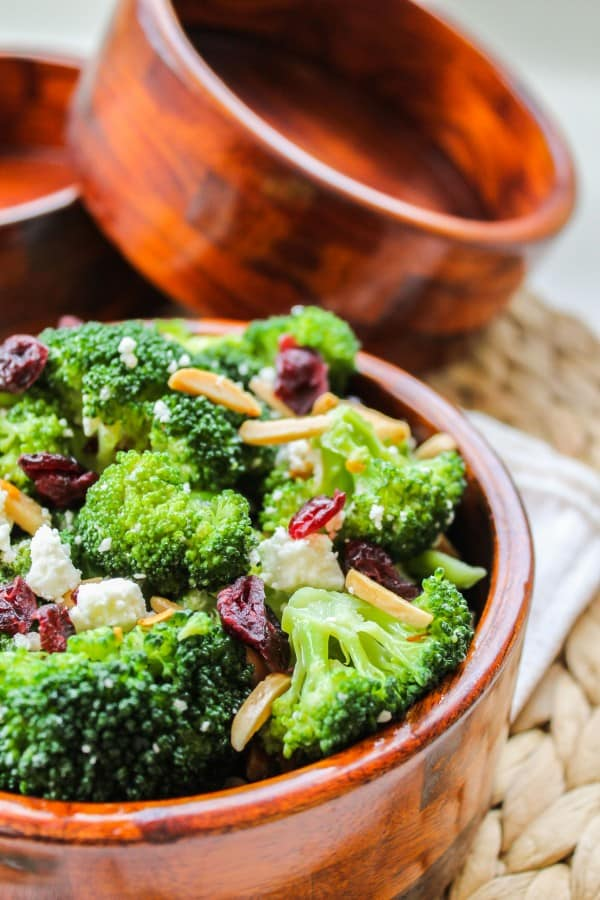 Broccoli with Feta and Fried Almonds