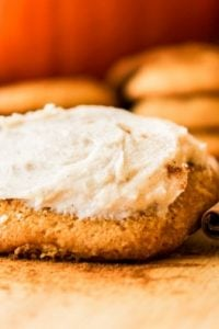 Pumpkin Cookies with Cinnamon Cream Cheese Frosting from The Food Charlatan