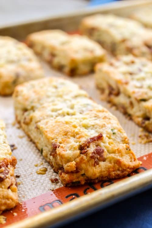 Bacon White Cheddar Scones