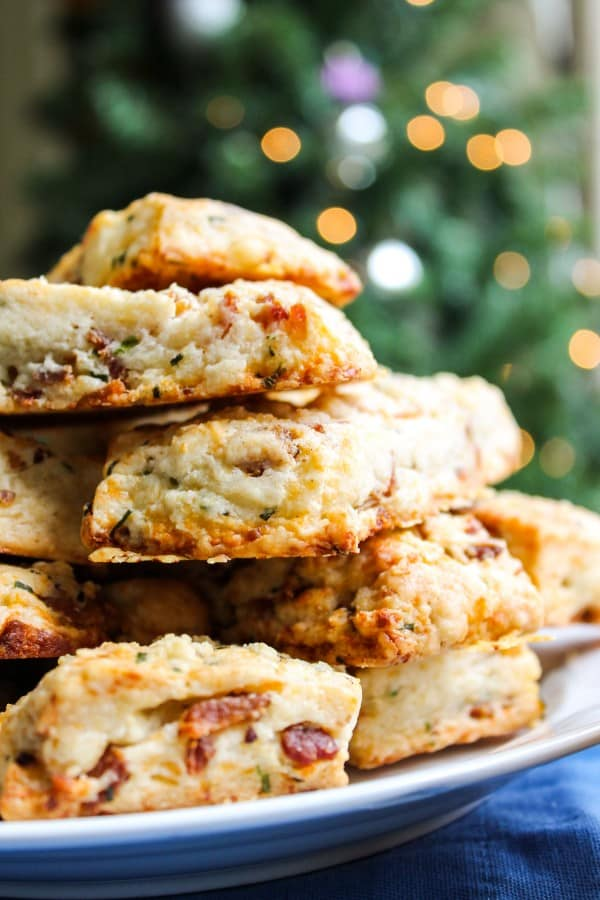 Overnight Bacon and White Cheddar Scones - The Food Charlatan