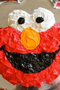Elmo Cake Tutorial from TheFoodCharlatan.com