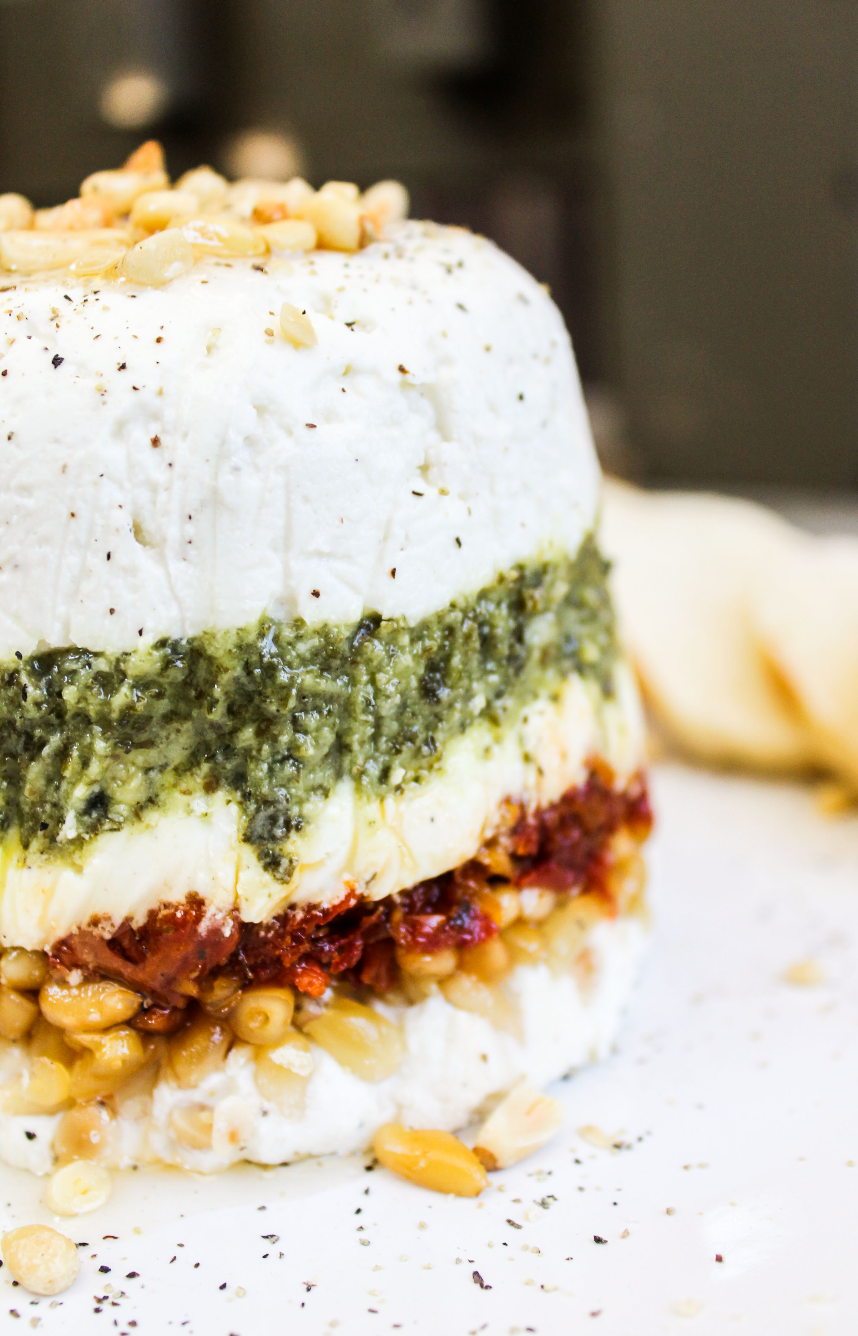 Layered Pesto Potatoes With Sun-Dried Tomatoes Recipe ...