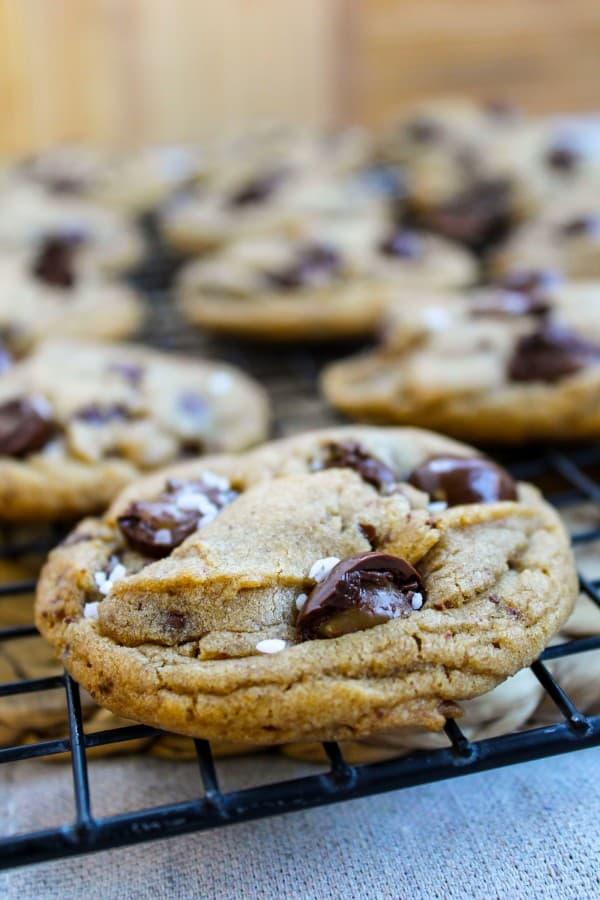 Brown Butter Sea Salt Butterscotch Cookies from TheFoodCharlatan.com