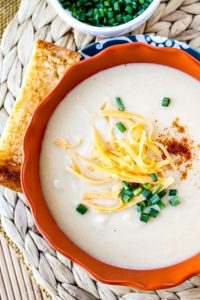 Easy Cheddar Cauliflower Soup from TheFoodCharlatan.com