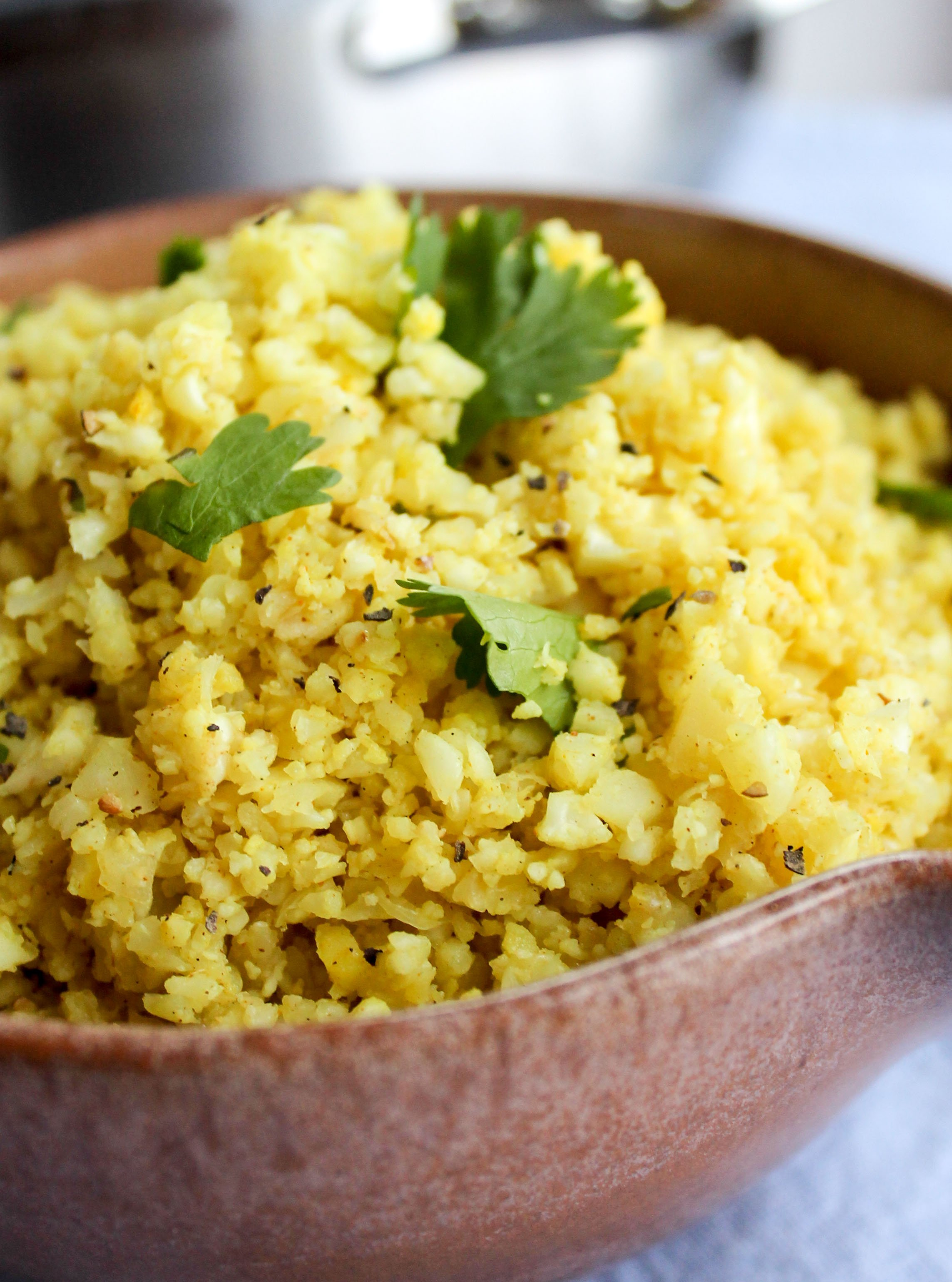 "Indian-Spiced Cauliflower ""Rice"" - The Food Charlatan"