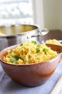 "Indian Spiced Cauliflower ""Rice"" from TheFoodCharlatan.com"