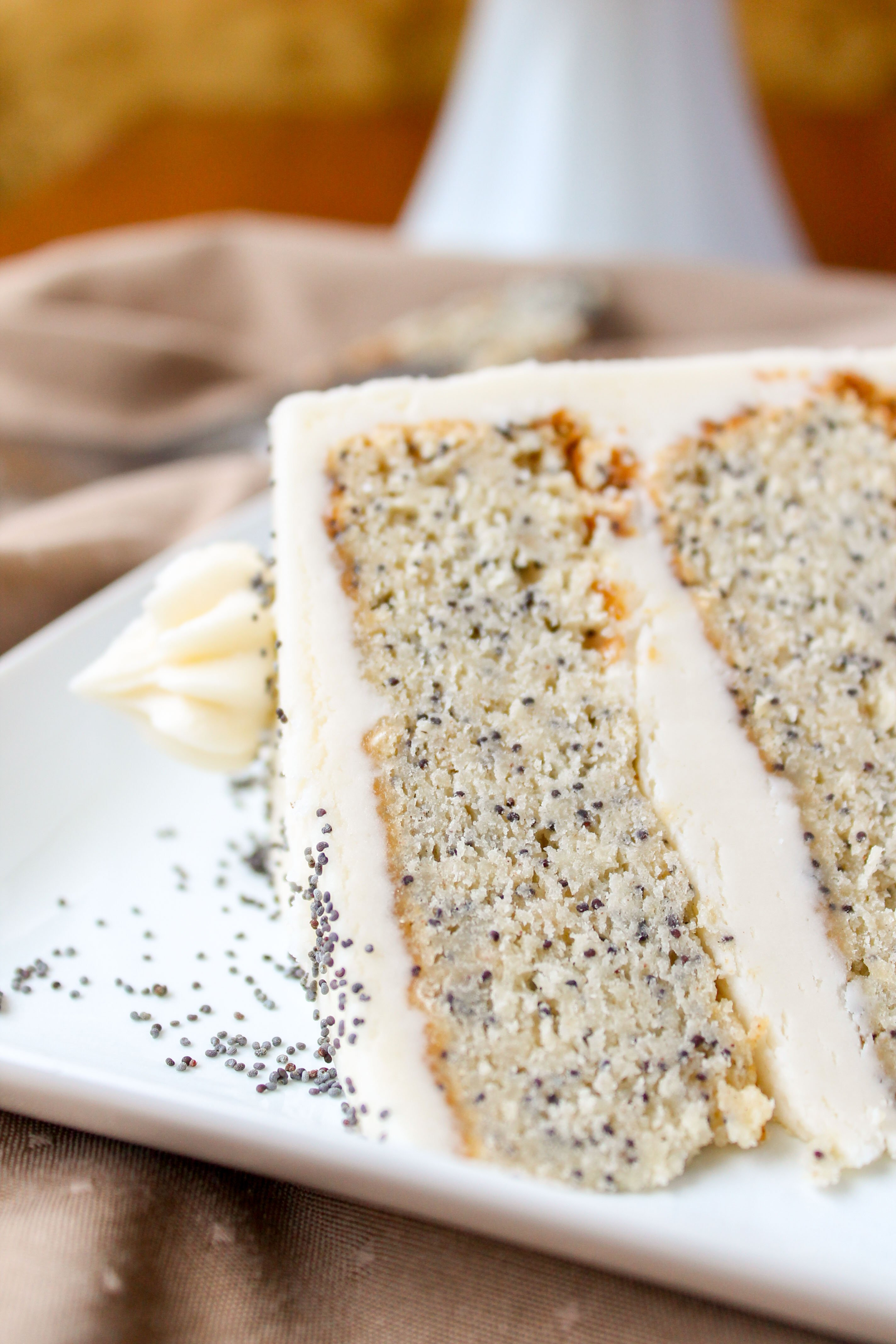 Spiced Poppyseed Cake with Almond Buttercream Frosting - The Food ...