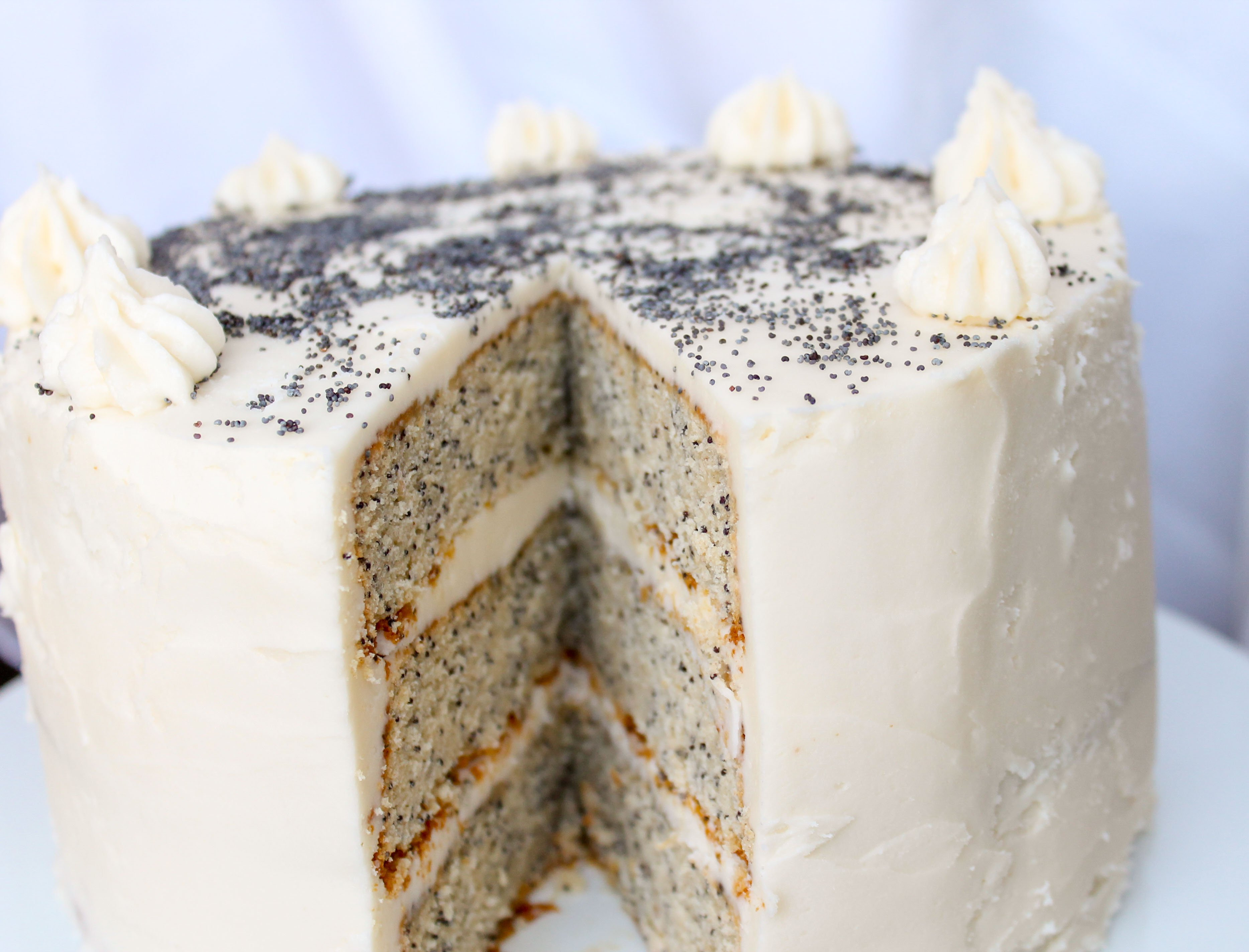 Spiced Poppyseed Cake with Almond Buttercream Frosting ...