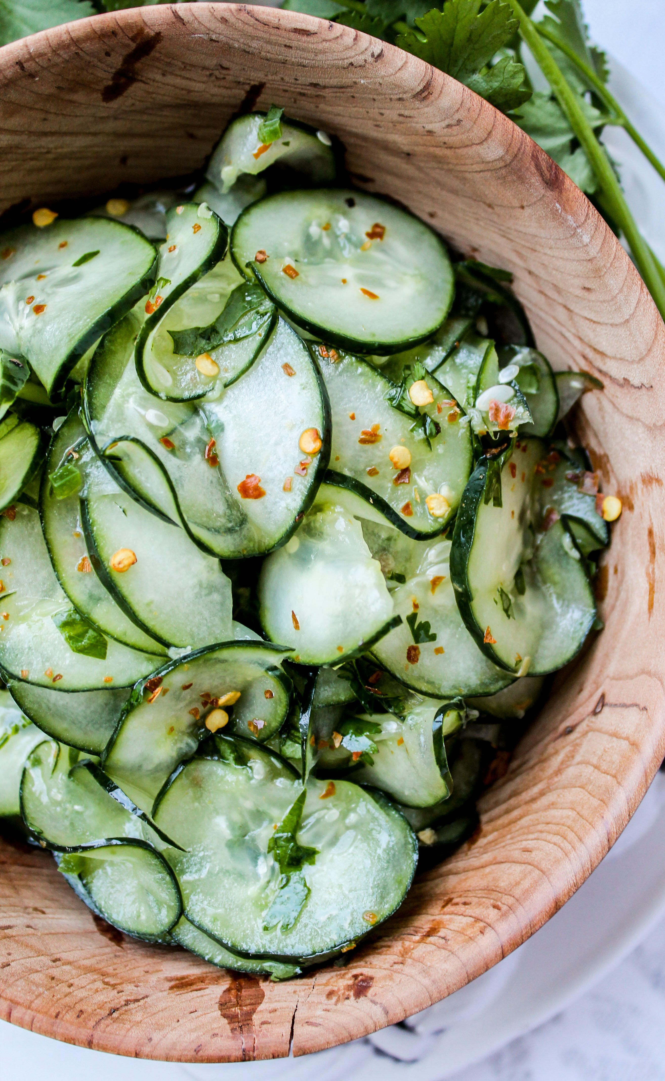 Cilantro-Lime Cucumber Salad - The Food Charlatan