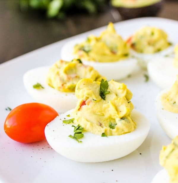 Deviled Guacamole Eggs