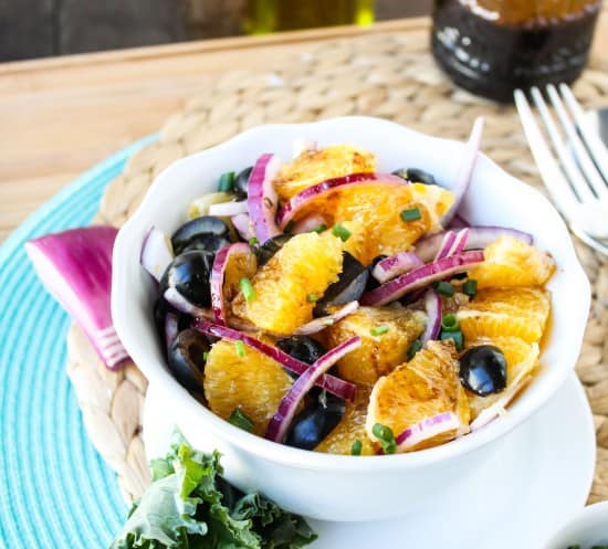 Orange Olive Salad with Balsamic Vinaigrette