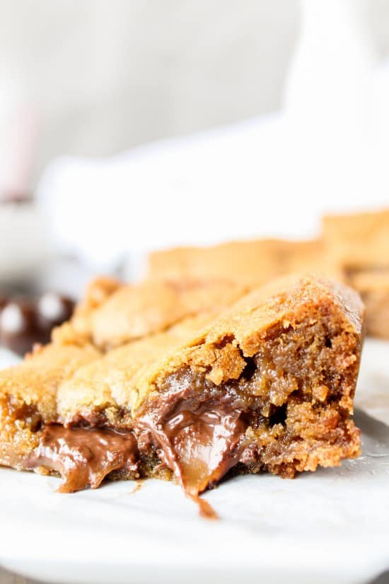 Browned Butter Blondies with Sea Salt Butterscotch Caramels