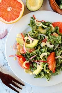 Grapefruit, Kale & Hearts of Palm Salad from TheFoodCharlatan.com