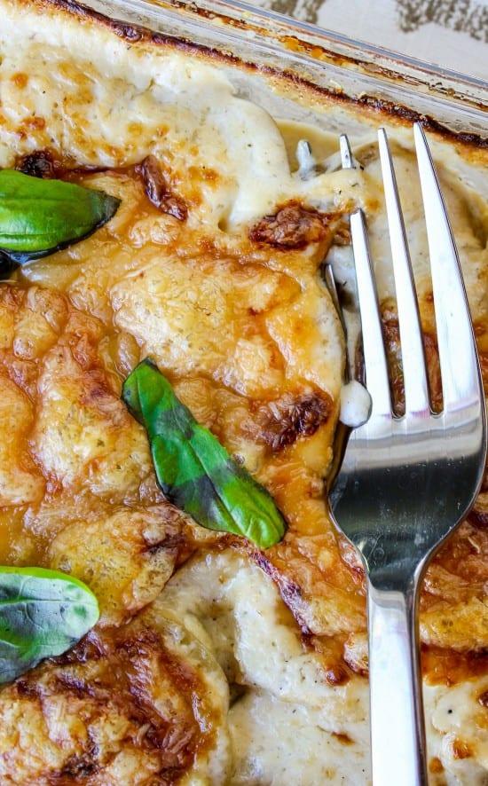 Gruyère-Crisped Potatoes Au Gratin