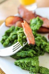 Dye-Free Green Eggs and Ham from TheFoodCharlatan.com