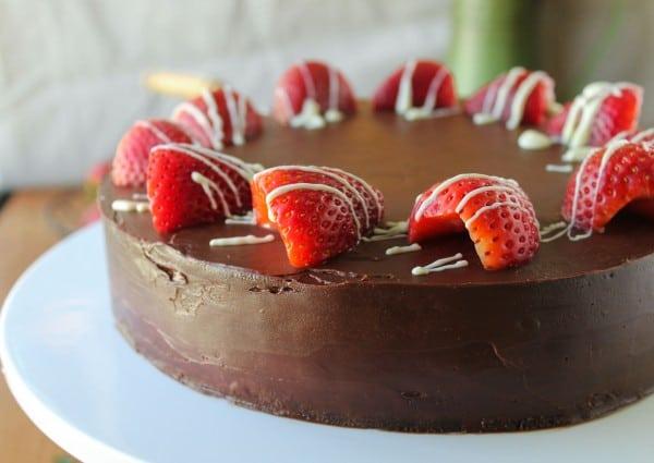 Strawberry Truffle Cake