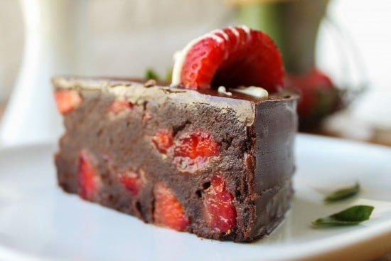 Strawberry Truffle Cake