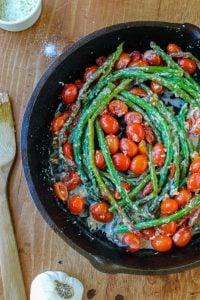 Sautéed Asparagus and Cherry Tomatoes