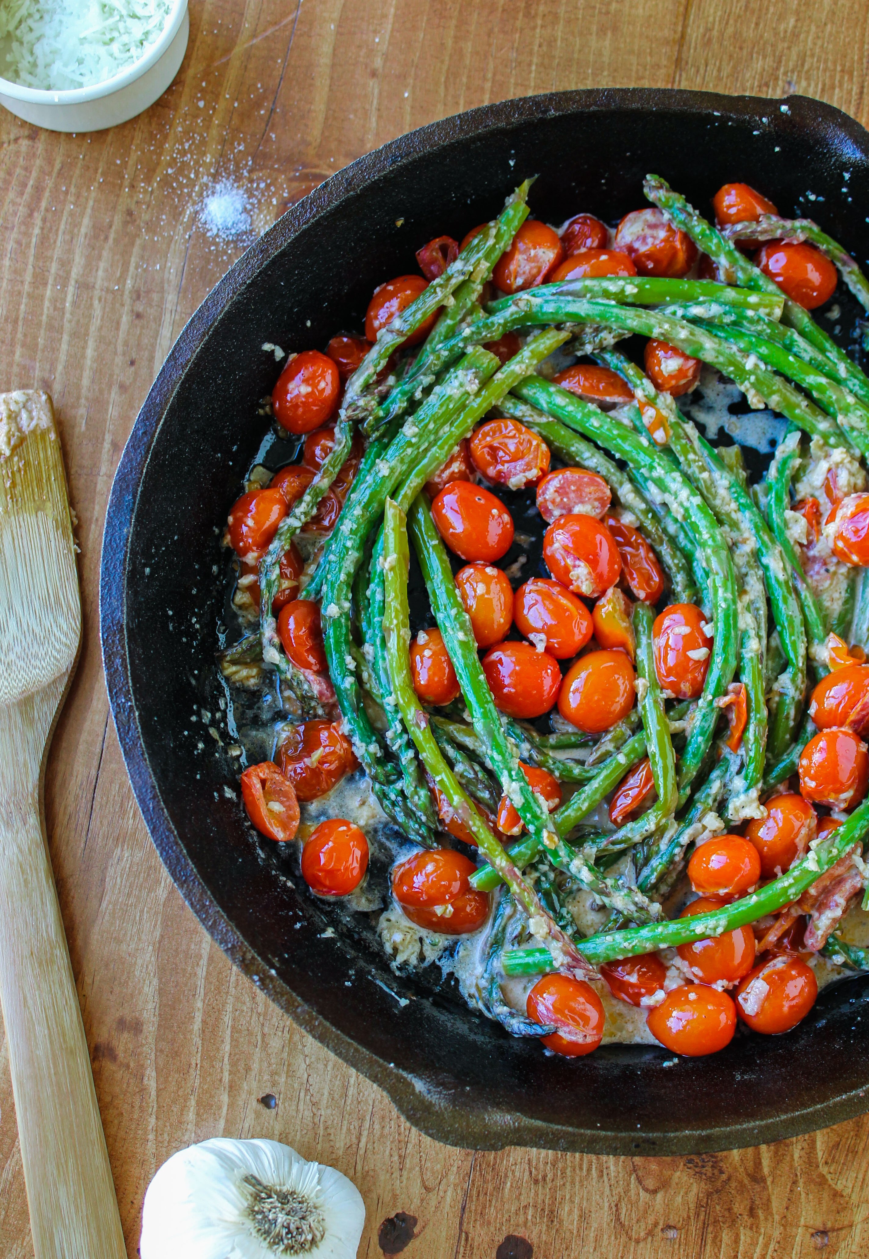 Saut 233 Ed Asparagus And Cherry Tomatoes The Food Charlatan