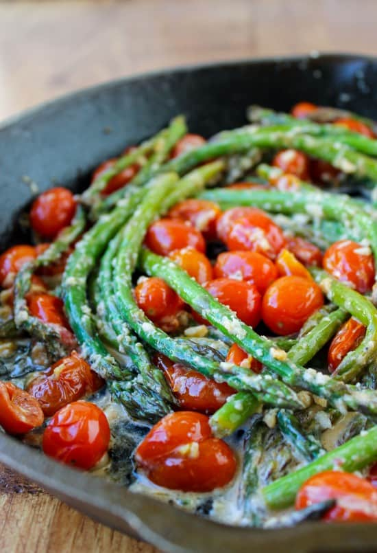 Sautéed Asparagus and Cherry Tomatoes