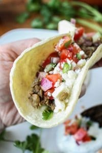 Greek Lentil Tacos with Cucumber Pico de Gallo from TheFoodCharlatan.com