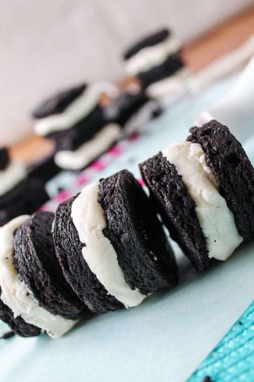 Homemade Brownie Oreos