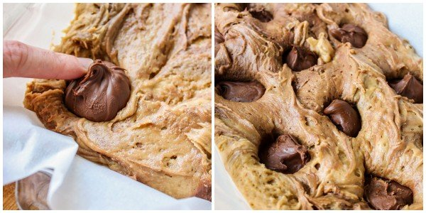 Nutella-Stuffed Browned Butter Blondies