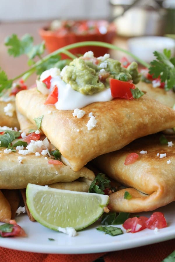 Chicken, Tomatillo, and Chipotle Chimichangas from TheFoodCharlatan.com