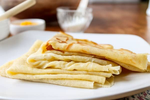 Meyer Lemon and Cardamom Crepes