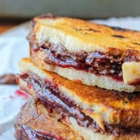 Raspberry Nocciolata Grilled Sandwich and giveaway