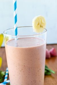Strawberry Mango Protein Smoothie from The Food Charlatan