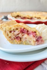Rhubarb Custard Pie from The Food Charlatan