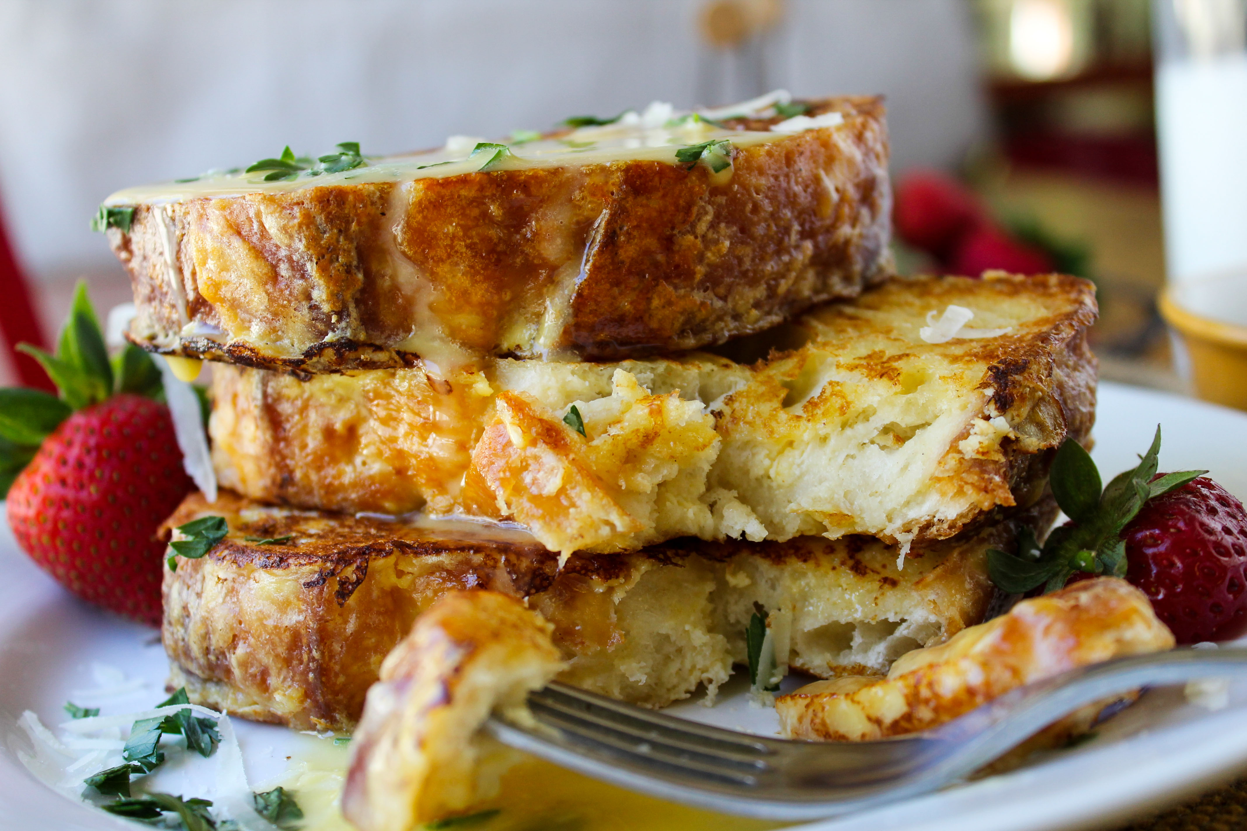 Well…Savory Parmesan French Toast with Hollandaise Sauce. Hear me ...