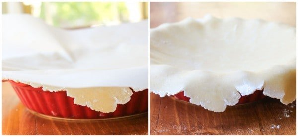 How to set the dough in the pie dish
