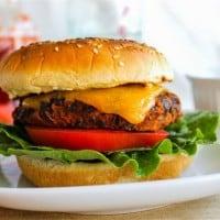 Black Bean Burgers with Sriracha Mayonnaise