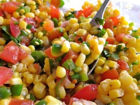 Corn Salsa with Lime: