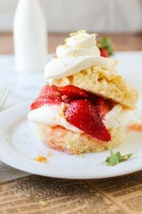 Strawberry Lemon Shortcake from The Food Charlatan
