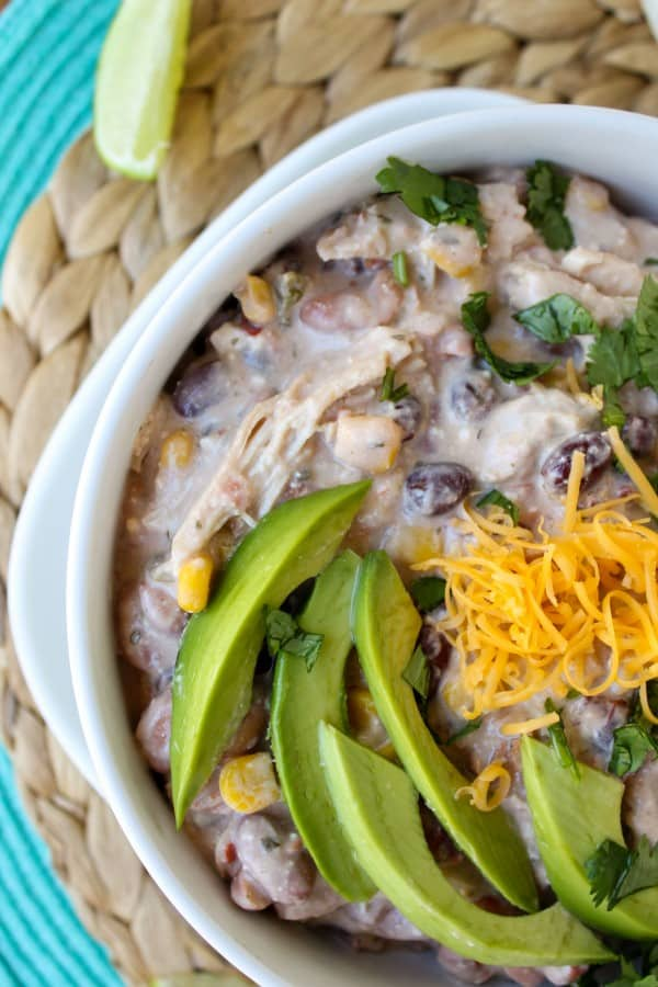 Cream Cheese Chicken Chili (Crockpot)