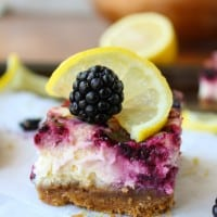Blackberry Lemon Cheesecake Bars