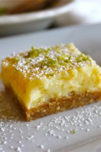 Creamy Lime Bars from TheFoodCharlatan.com