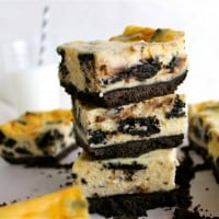 Oreo Cheesecake Bars, and I had a baby