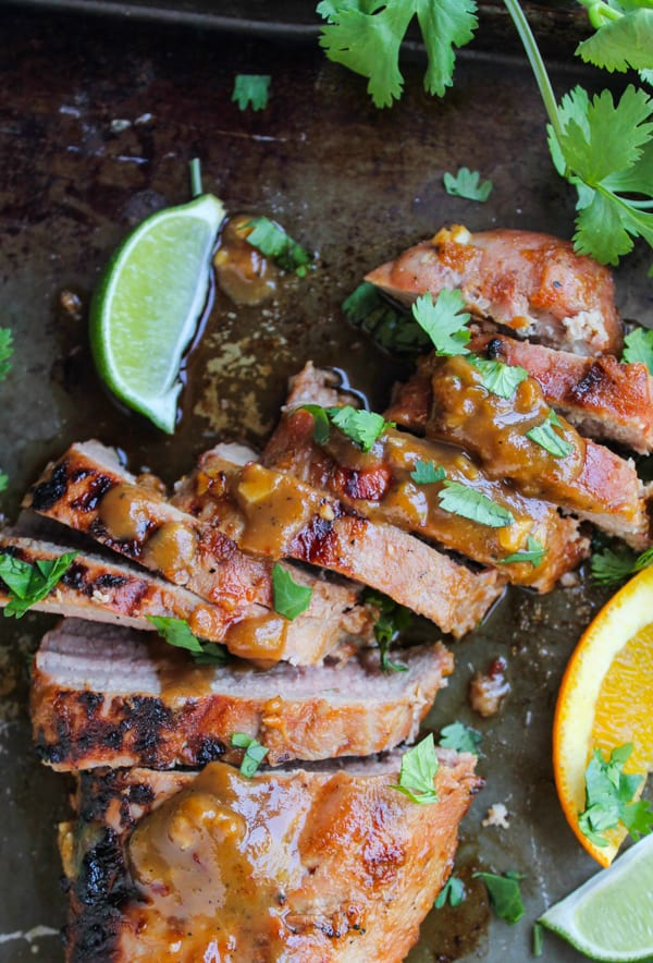 Grilled Pork Tenderloin with Peanut-Lime Sauce | thefoodcharlatan.com