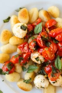 Easy Caramelized Gnocchi with Cherry Tomatoes and Mozzarella from TheFoodCharlatan.com
