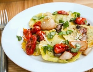 Ravioli with Cherry Tomatoes and Basil