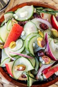Pistachio-Pear Cucumber Salad | TheFoodCharlatan.com